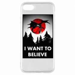 Чехол для iPhone 8 I want to BELIEVE poster
