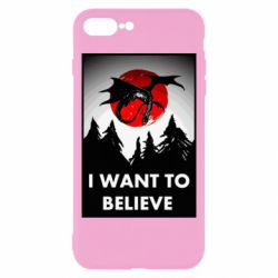 Чехол для iPhone 8 Plus I want to BELIEVE poster