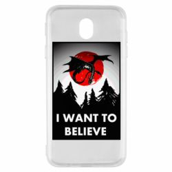 Чехол для Samsung J7 2017 I want to BELIEVE poster