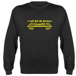 Реглан (свитшот) I will Not Be Broken Crossfit - FatLine
