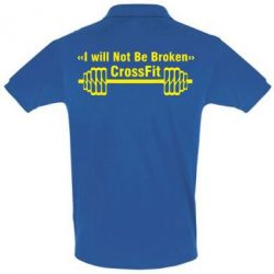 Футболка Поло I will Not Be Broken Crossfit - FatLine