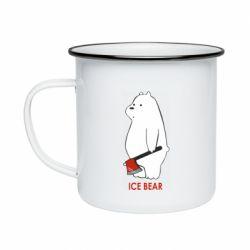 Кружка емальована Ice bear