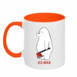 Кружка двоколірна 320ml Ice bear