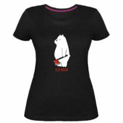 Жіноча стрейчева футболка Ice bear