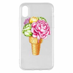 Чохол для iPhone X/Xs Ice cream flowers