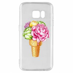 Чохол для Samsung S7 Ice cream flowers