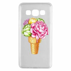 Чохол для Samsung A3 2015 Ice cream flowers