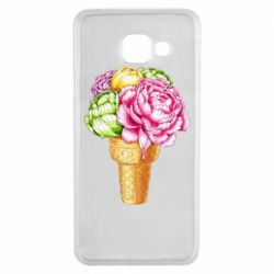 Чохол для Samsung A3 2016 Ice cream flowers