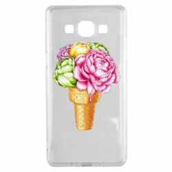 Чохол для Samsung A5 2015 Ice cream flowers