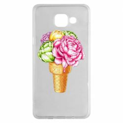 Чохол для Samsung A5 2016 Ice cream flowers