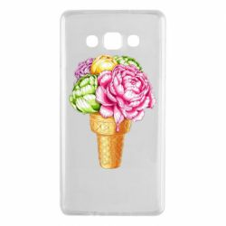 Чохол для Samsung A7 2015 Ice cream flowers
