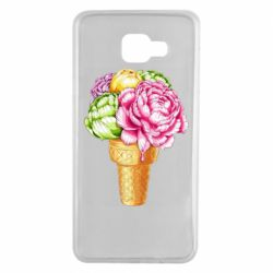 Чохол для Samsung A7 2016 Ice cream flowers