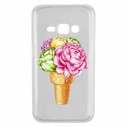 Чохол для Samsung J1 2016 Ice cream flowers