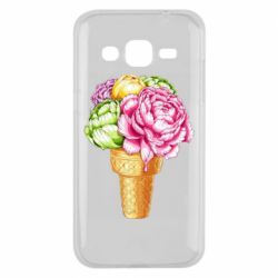 Чохол для Samsung J2 2015 Ice cream flowers
