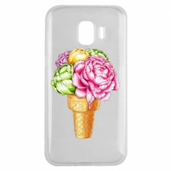 Чохол для Samsung J2 2018 Ice cream flowers