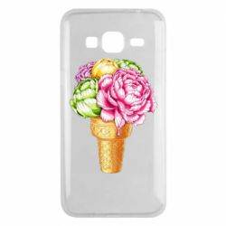 Чохол для Samsung J3 2016 Ice cream flowers