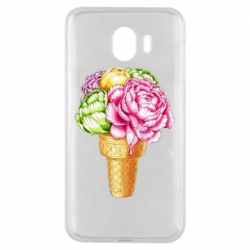 Чохол для Samsung J4 Ice cream flowers