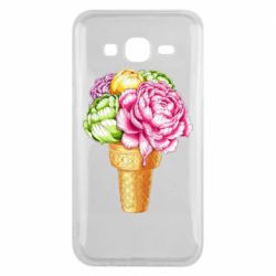 Чохол для Samsung J5 2015 Ice cream flowers
