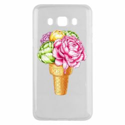 Чохол для Samsung J5 2016 Ice cream flowers
