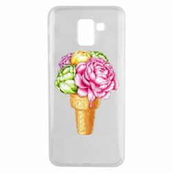 Чохол для Samsung J6 Ice cream flowers