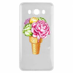 Чохол для Samsung J7 2016 Ice cream flowers