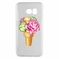 Чохол для Samsung S6 EDGE Ice cream flowers