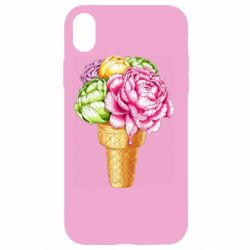 Чохол для iPhone XR Ice cream flowers