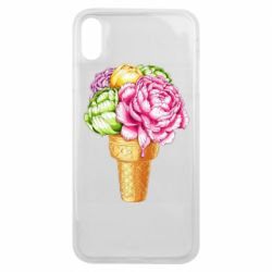 Чохол для iPhone Xs Max Ice cream flowers