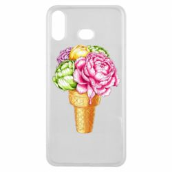 Чохол для Samsung A6s Ice cream flowers