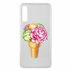 Чохол для Samsung A7 2018 Ice cream flowers