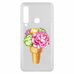 Чохол для Samsung A9 2018 Ice cream flowers