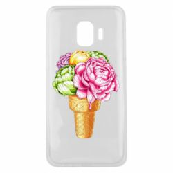 Чохол для Samsung J2 Core Ice cream flowers