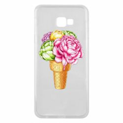 Чохол для Samsung J4 Plus 2018 Ice cream flowers