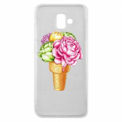 Чохол для Samsung J6 Plus 2018 Ice cream flowers