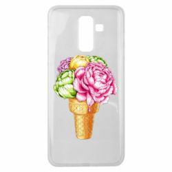 Чохол для Samsung J8 2018 Ice cream flowers