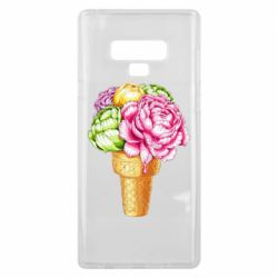 Чохол для Samsung Note 9 Ice cream flowers