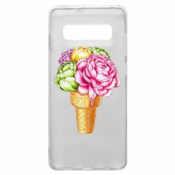 Чохол для Samsung S10+ Ice cream flowers