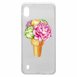 Чохол для Samsung A10 Ice cream flowers