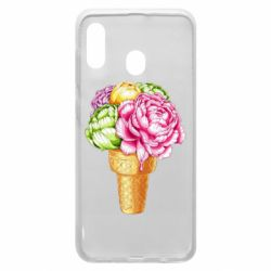Чохол для Samsung A20 Ice cream flowers