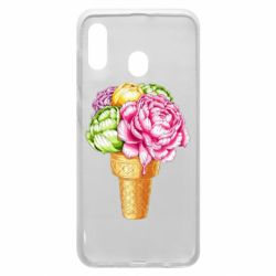 Чохол для Samsung A30 Ice cream flowers