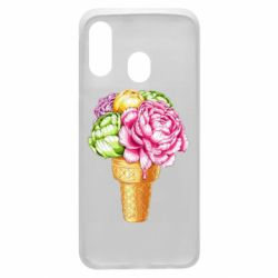 Чохол для Samsung A40 Ice cream flowers
