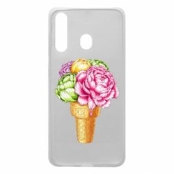 Чохол для Samsung A60 Ice cream flowers