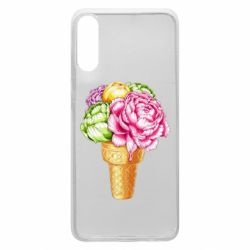 Чохол для Samsung A70 Ice cream flowers