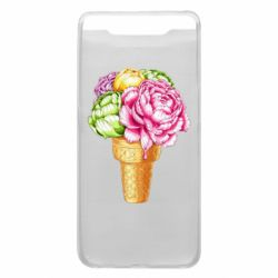 Чохол для Samsung A80 Ice cream flowers