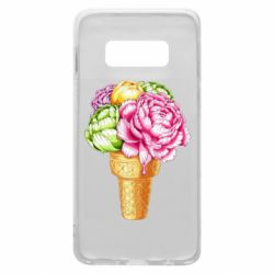 Чохол для Samsung S10e Ice cream flowers