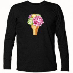 Футболка з довгим рукавом Ice cream flowers