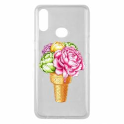 Чохол для Samsung A10s Ice cream flowers