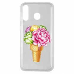 Чохол для Samsung M30 Ice cream flowers