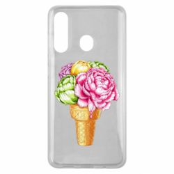 Чохол для Samsung M40 Ice cream flowers