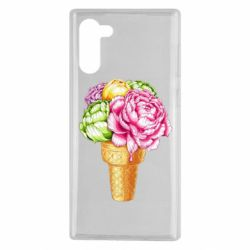 Чохол для Samsung Note 10 Ice cream flowers